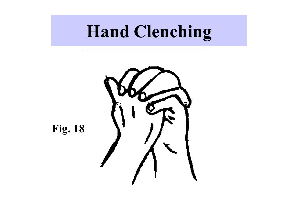 Hand Clenching Fig. 18 This gesture can have several meanings: