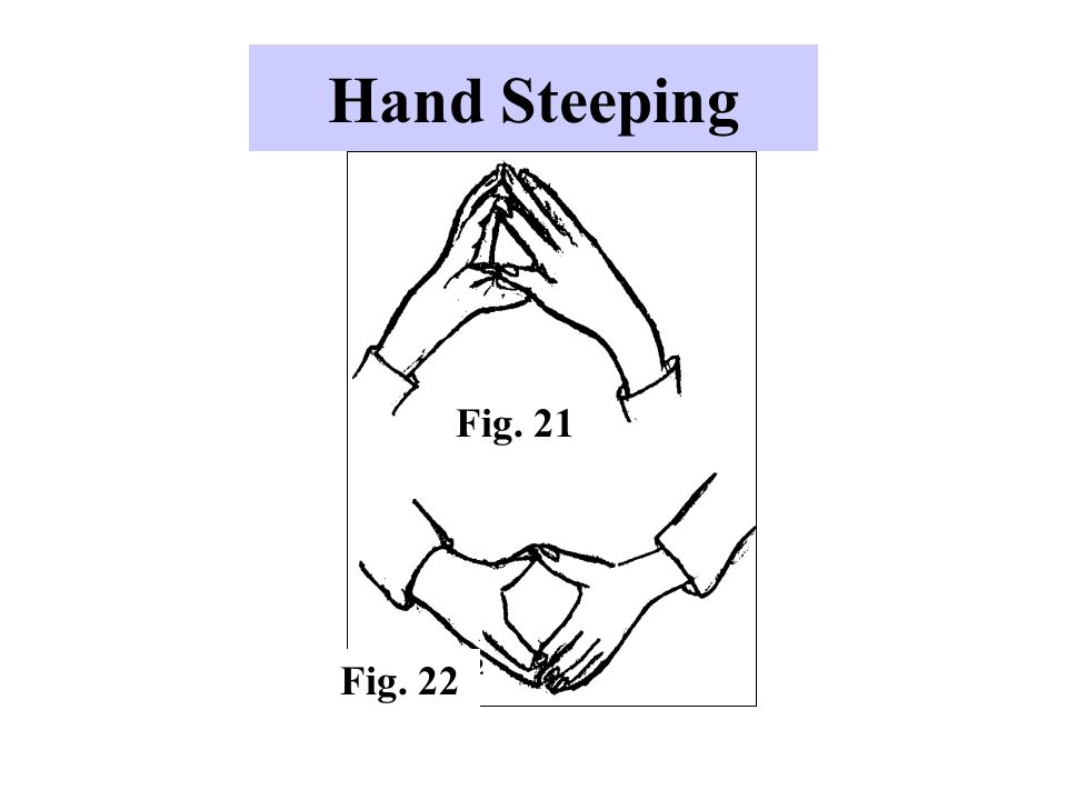 Hand Steeping Fig. 21 Fig. 22 -Used by individuals who feel confident.