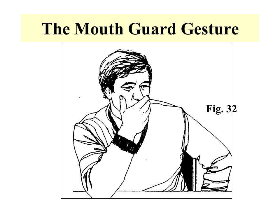 The Mouth Guard Gesture