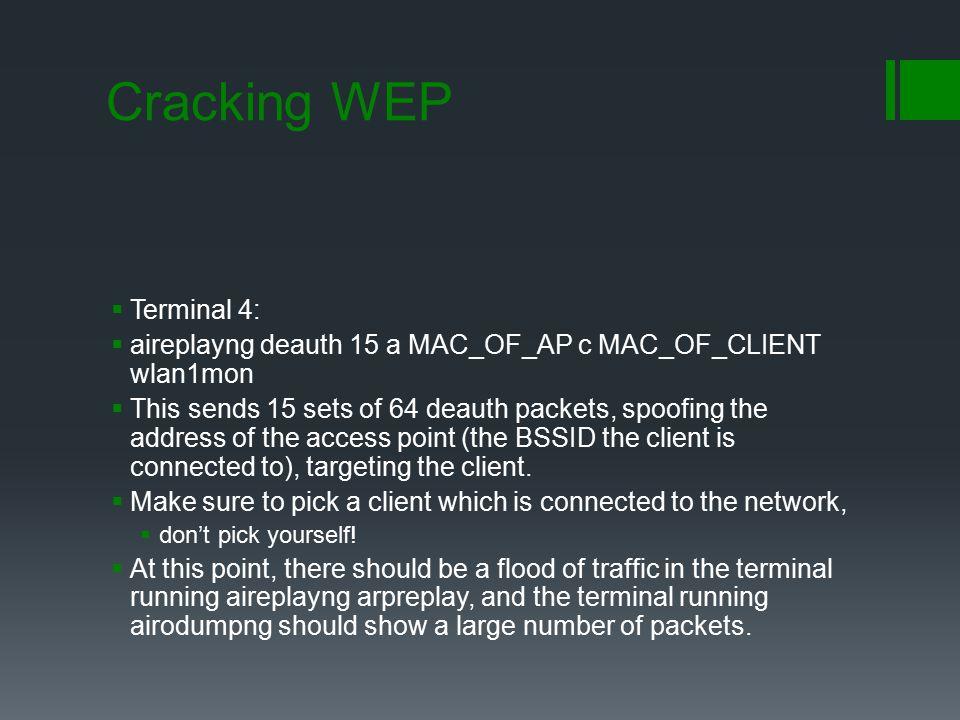 Cracking WEP Terminal 4: