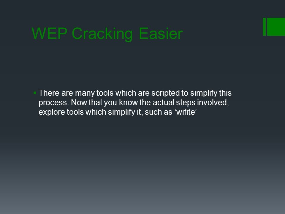 WEP Cracking Easier