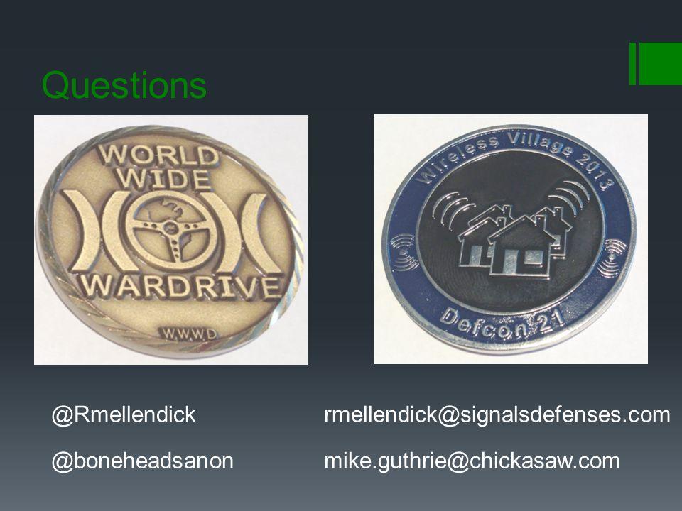 Questions @Rmellendick rmellendick@signalsdefenses.com