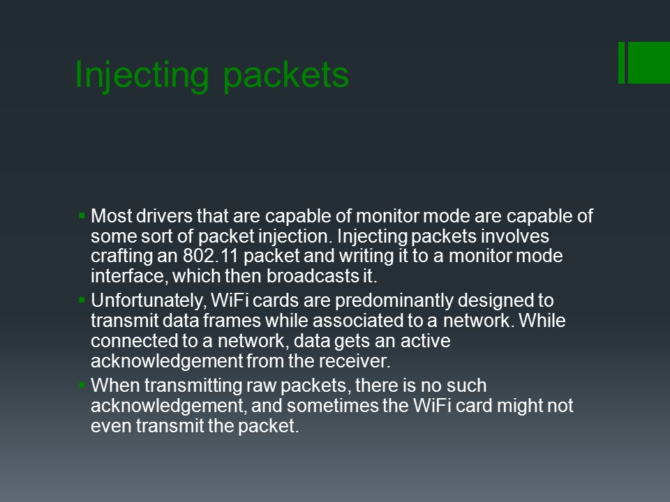 Injecting packets
