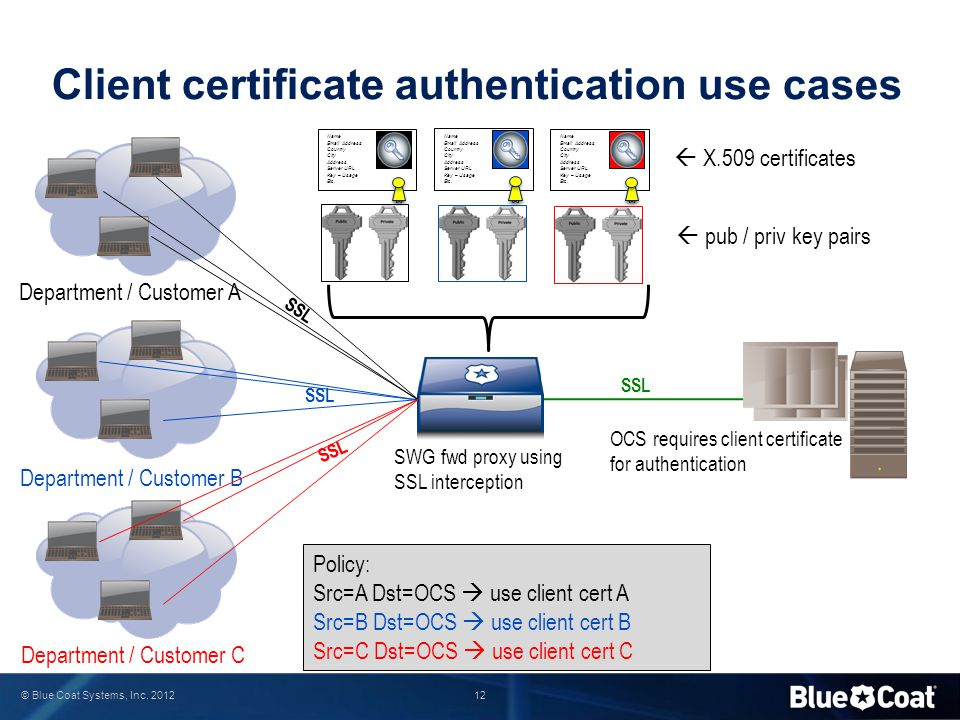 Client certificate authentication use cases