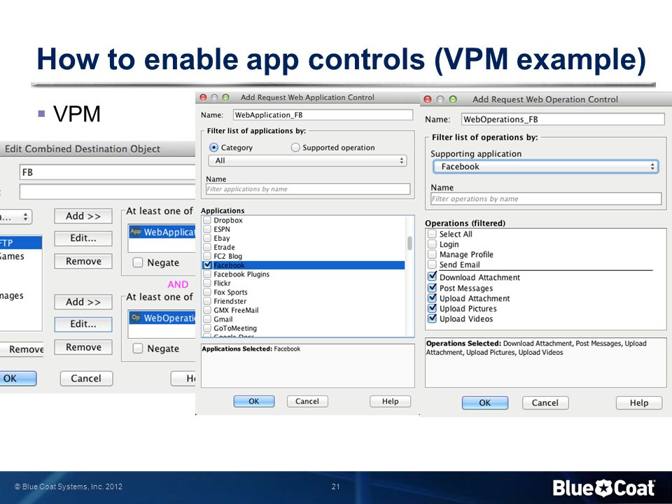 How to enable app controls (VPM example)