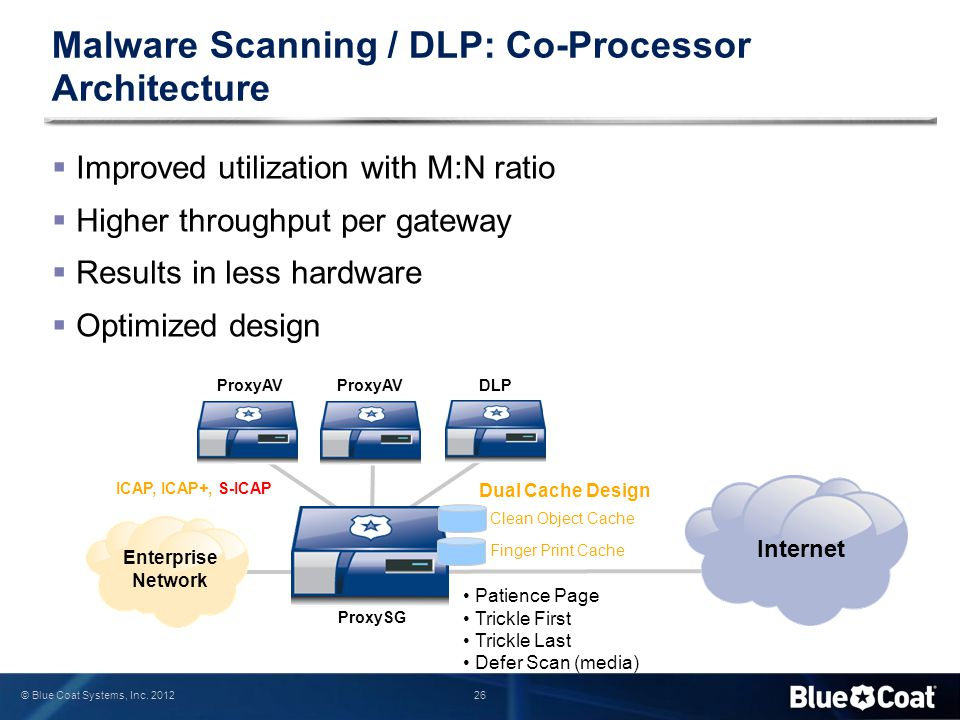 Malware Scanning / DLP: Co-Processor Architecture
