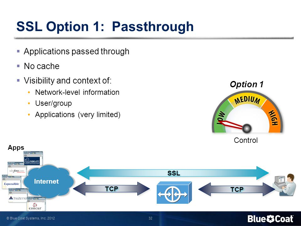 SSL Option 1: Passthrough