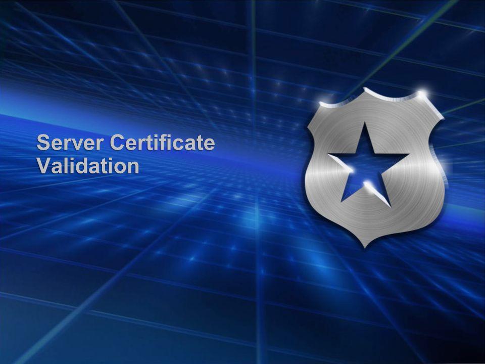Server Certificate Validation