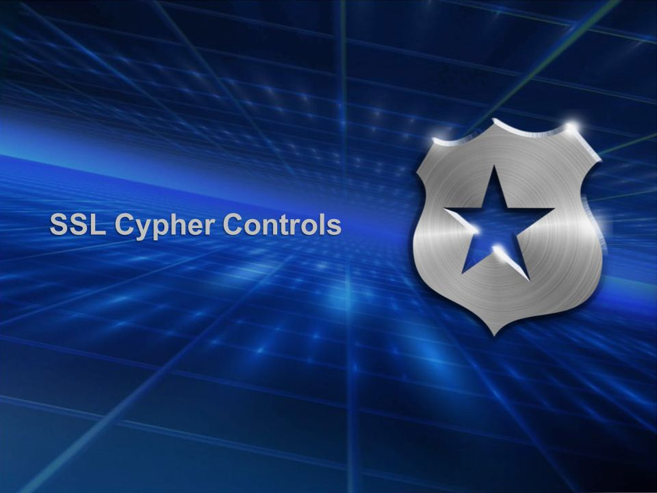 SSL Cypher Controls