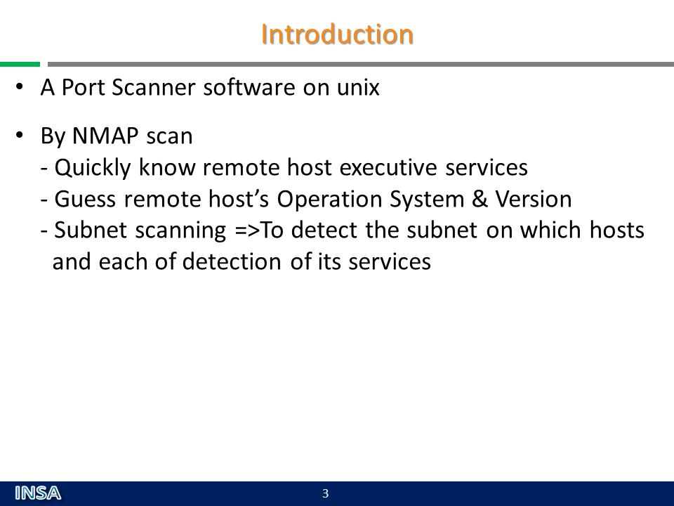 Introduction A Port Scanner software on unix