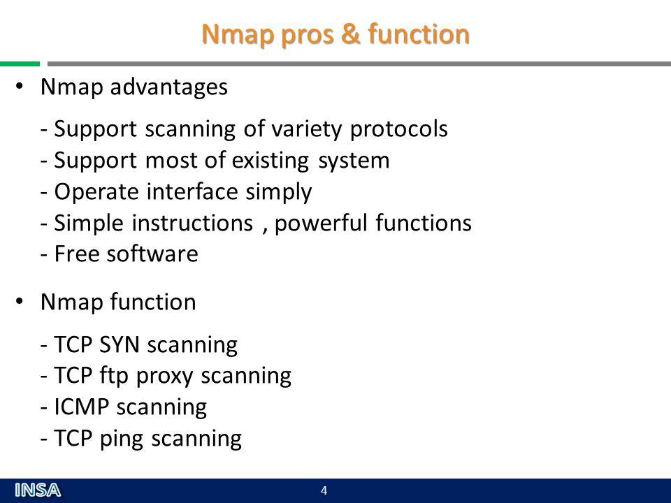 Nmap pros & function Nmap advantages Nmap function