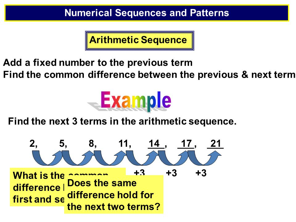 Numerical Sequences and Patterns