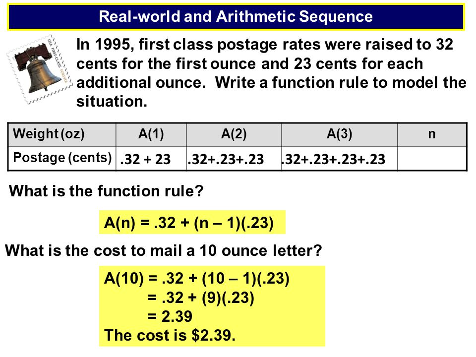 Real-world and Arithmetic Sequence