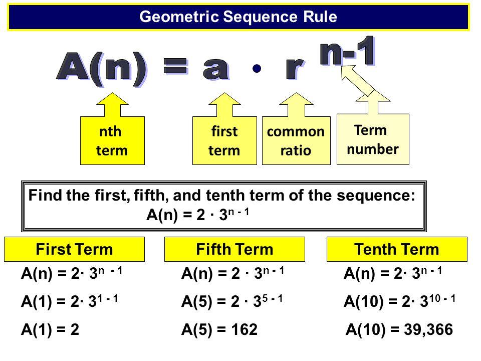 Geometric Sequence Rule