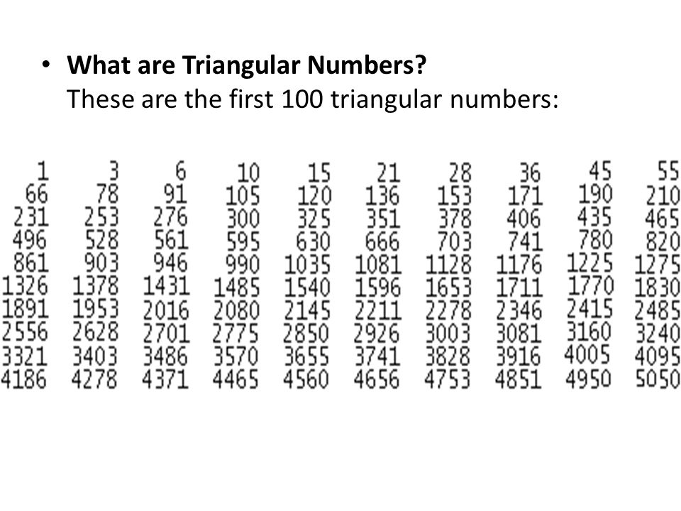 What are Triangular Numbers