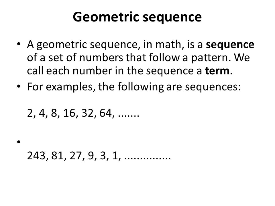 Geometric Sequence Real Life Example Image Gallery  Hcpr