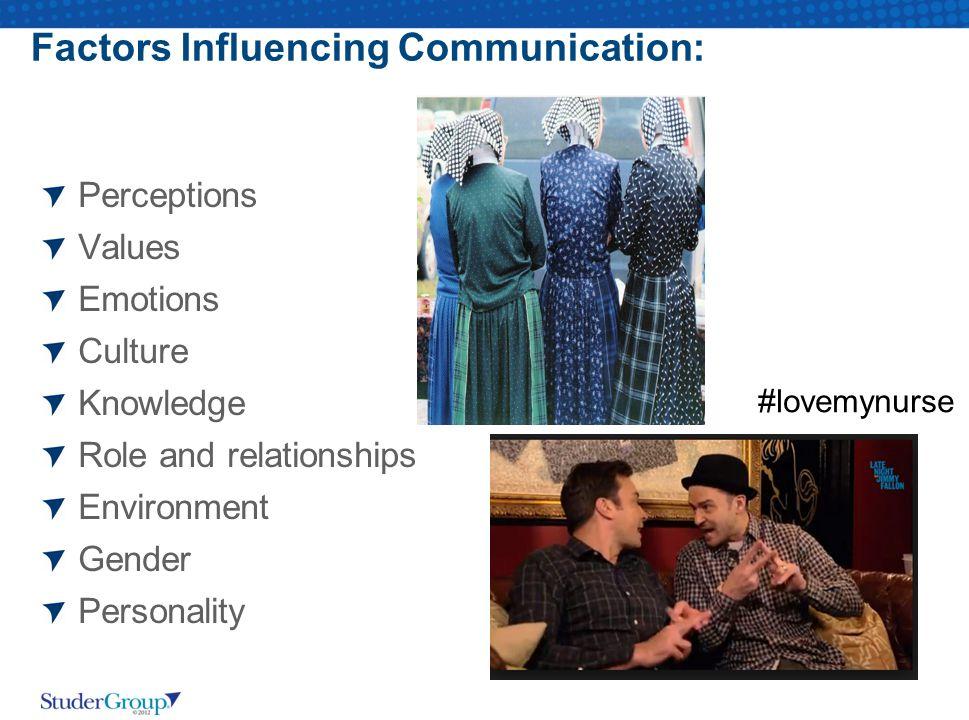 Factors Influencing Communication: