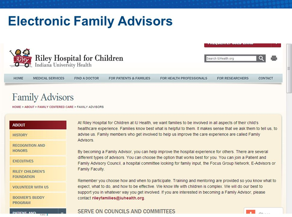 Electronic Family Advisors
