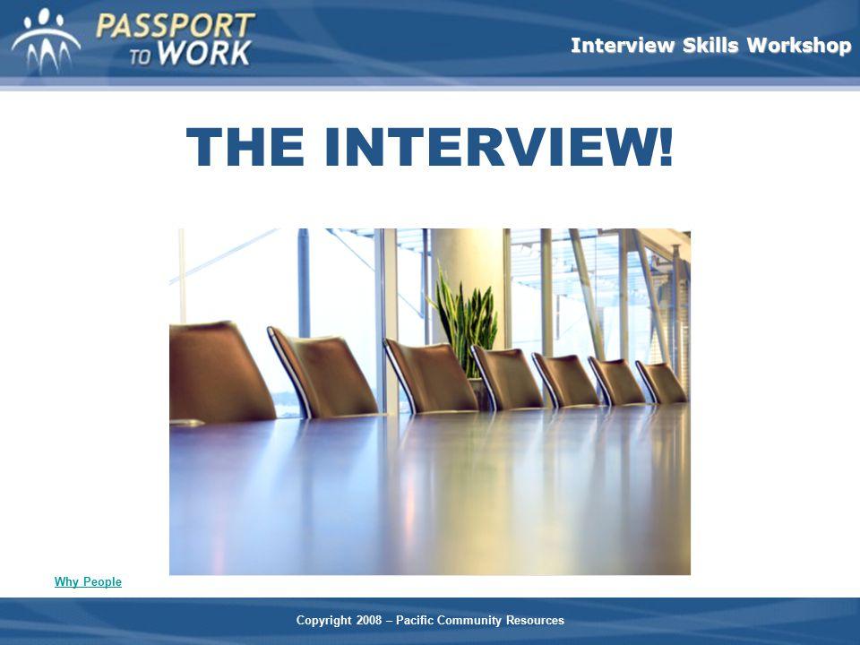 THE INTERVIEW! Facilitators Notes: