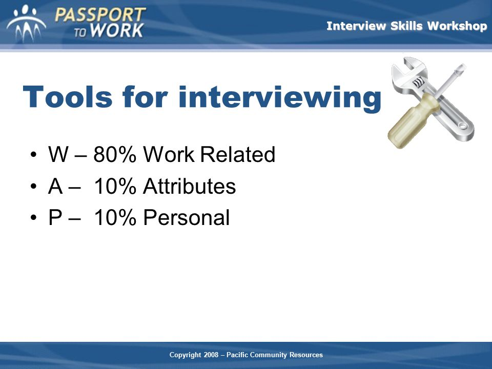 Tools for interviewing