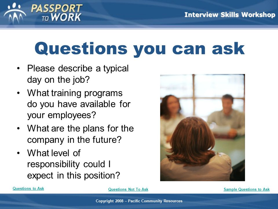 Sample Questions to Ask