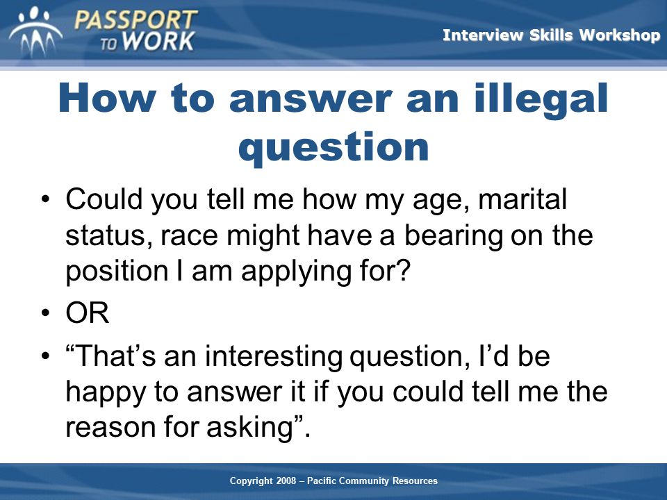 How to answer an illegal question