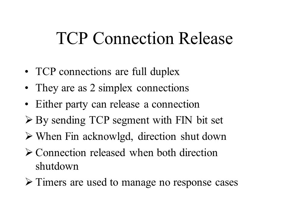 TCP Connection Release