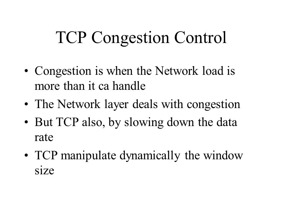 TCP Congestion Control
