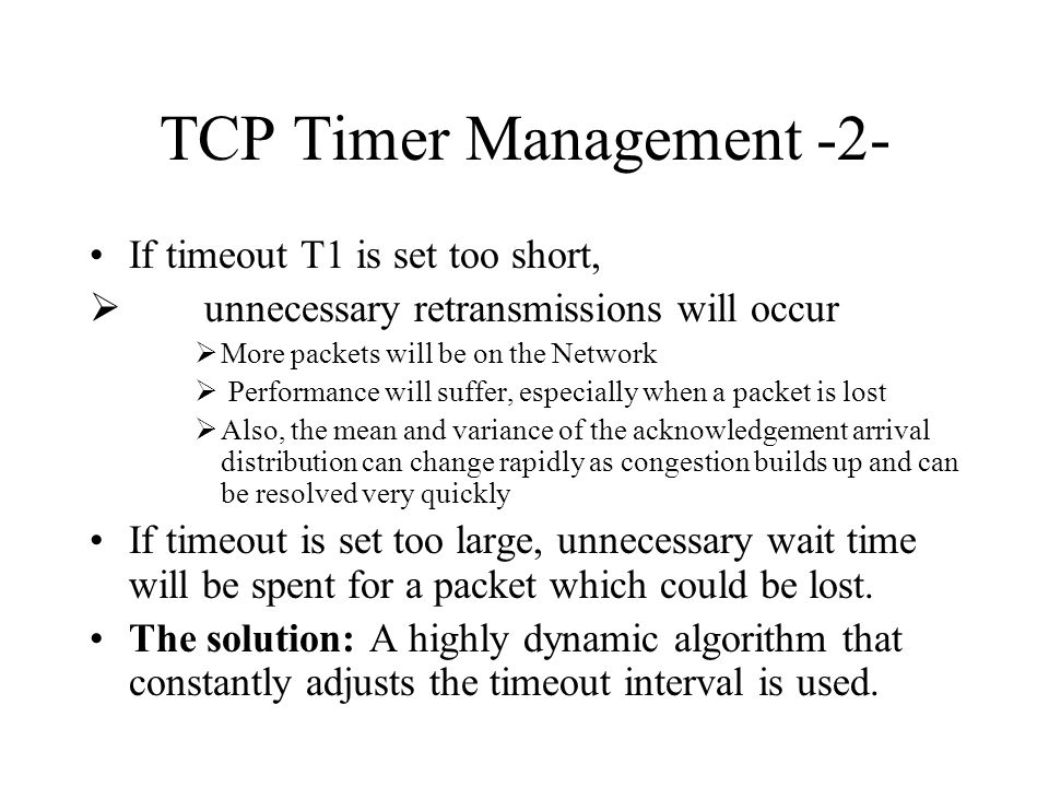 TCP Timer Management -2-