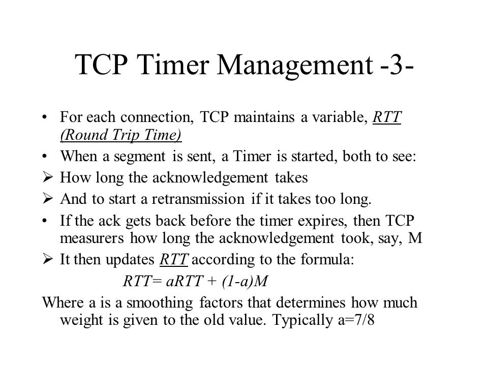 TCP Timer Management -3-