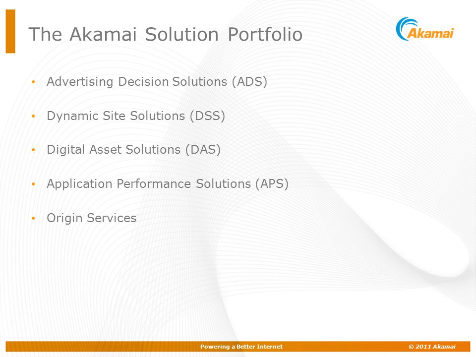 The Akamai Solution Portfolio