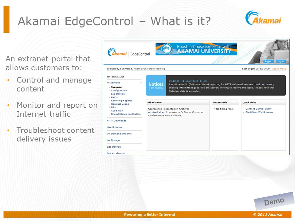 Akamai EdgeControl – What is it