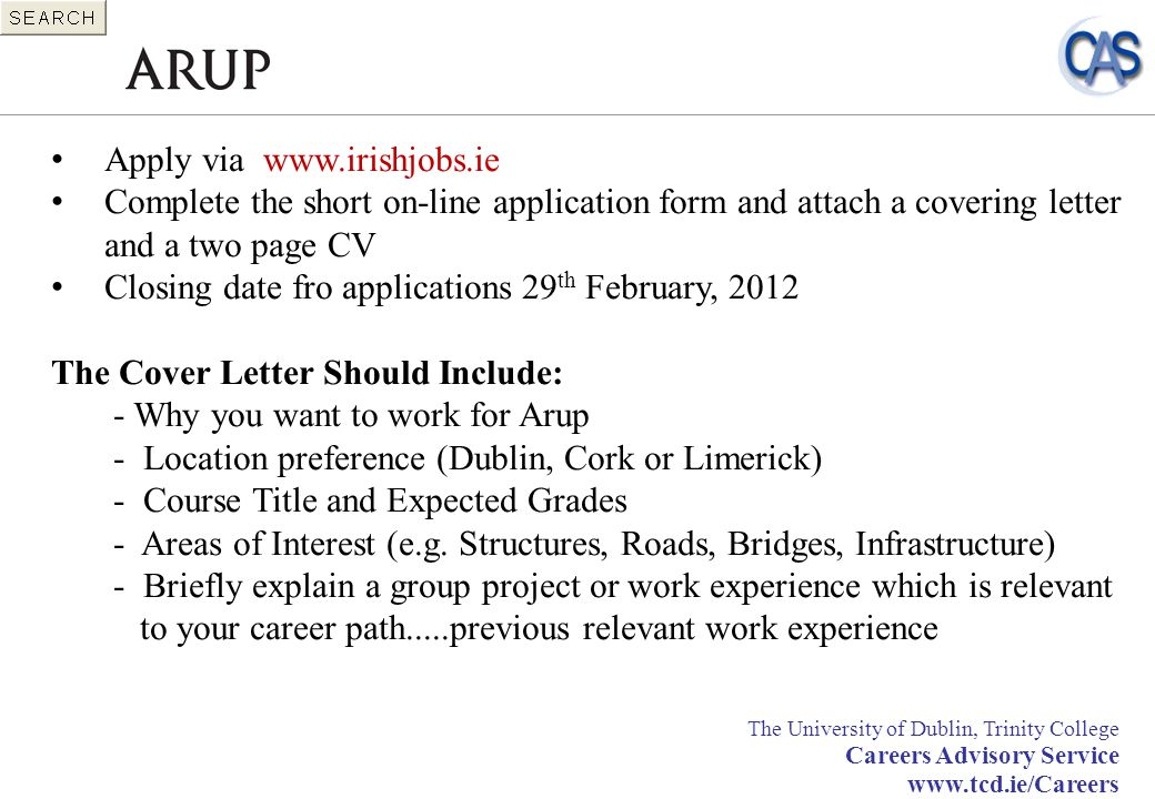 Apply via www.irishjobs.ie