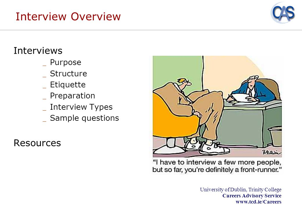 Interview Overview Interviews Resources Purpose Structure Etiquette