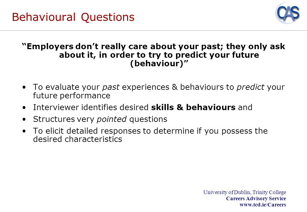 Behavioural Questions