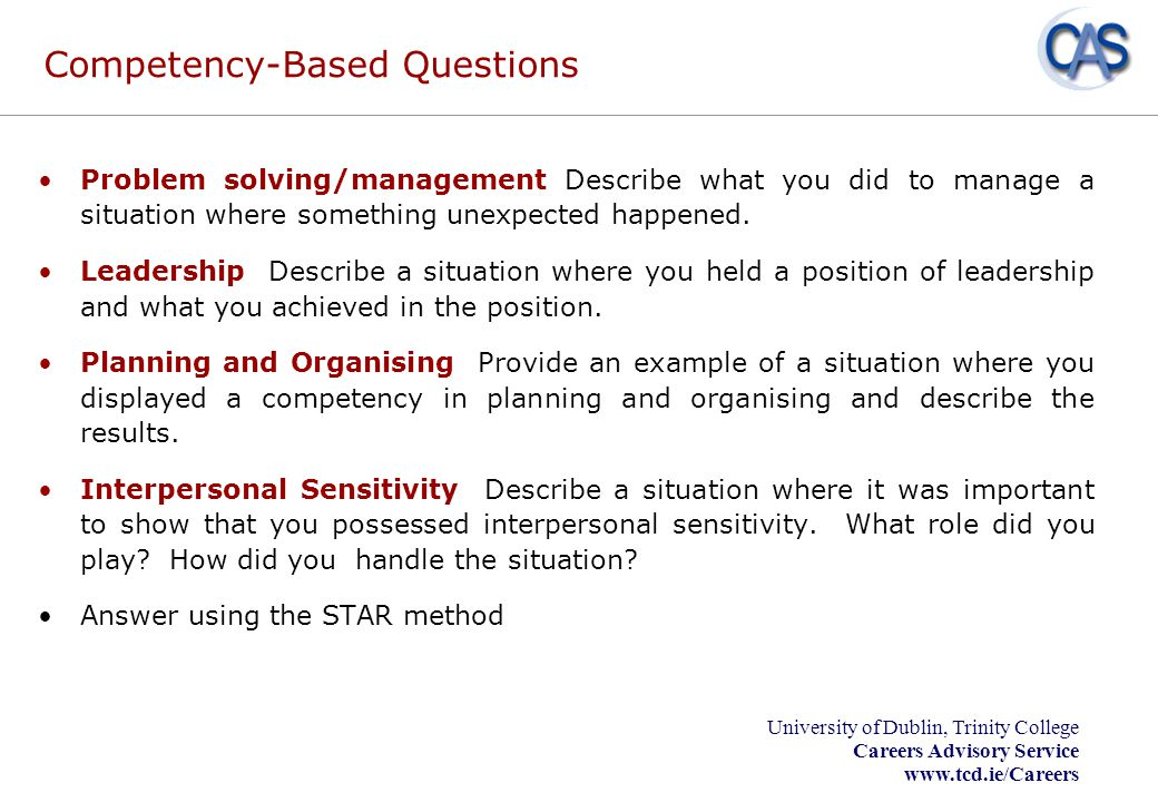 Competency-Based Questions