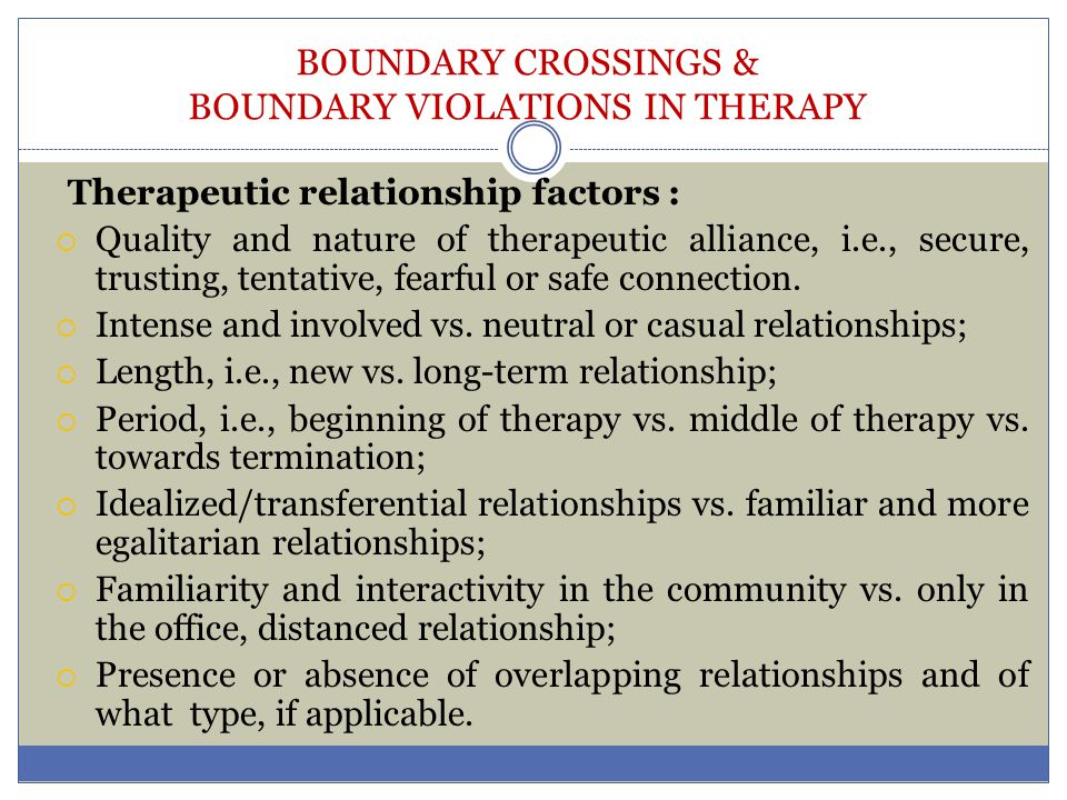 Necessary Boundaries for a Healthy Counseling Relationship