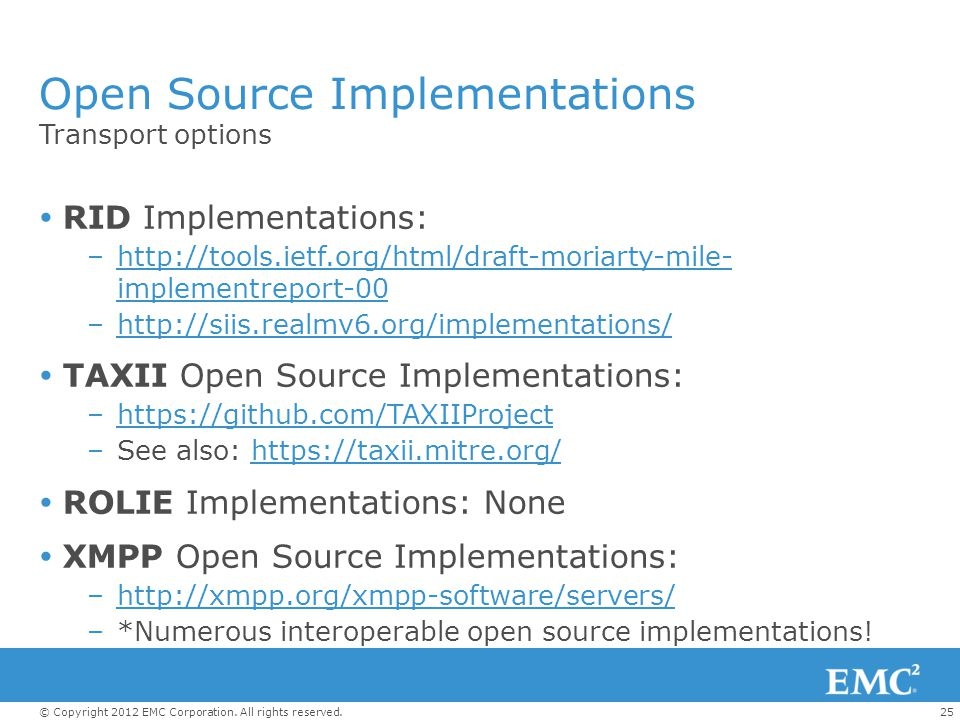 Open Source Implementations
