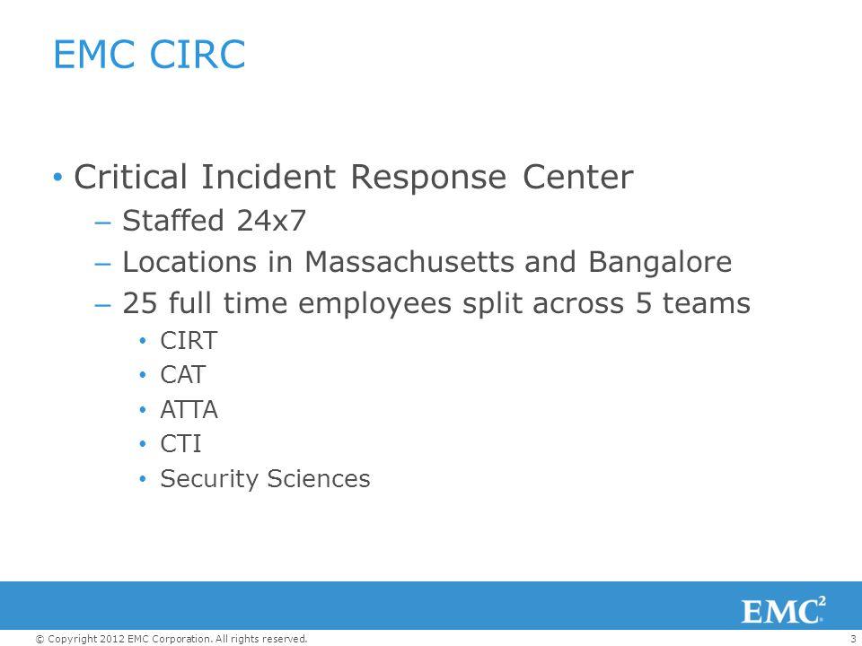 EMC CIRC Critical Incident Response Center Staffed 24x7