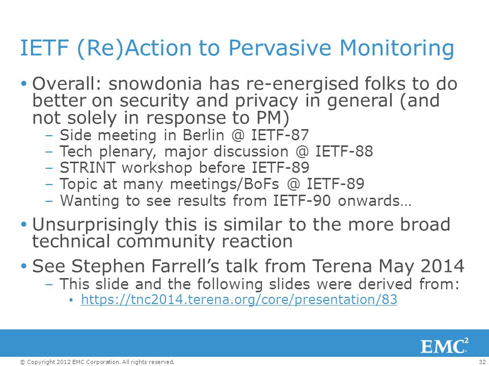 IETF (Re)Action to Pervasive Monitoring