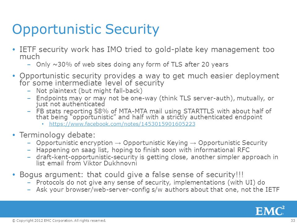 Opportunistic Security