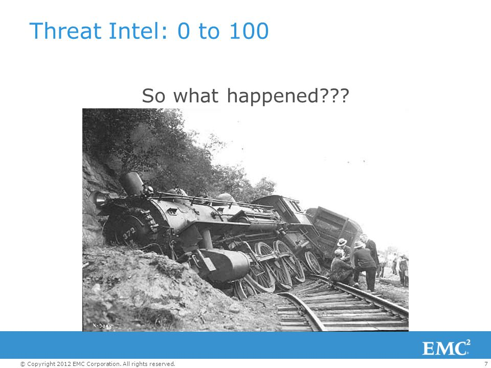 Threat Intel: 0 to 100 So what happened