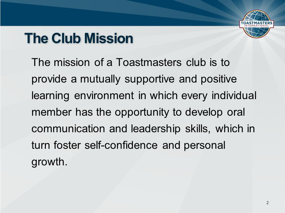 The Club Mission