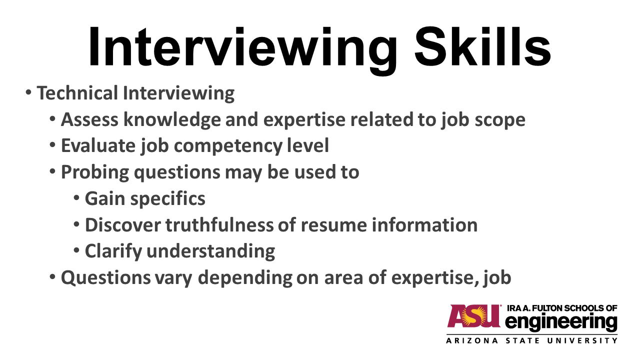 Interviewing Skills Technical Interviewing