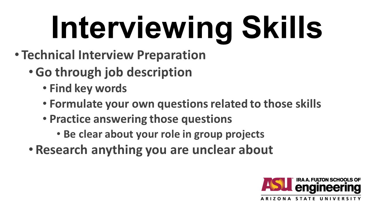 Interviewing Skills Technical Interview Preparation