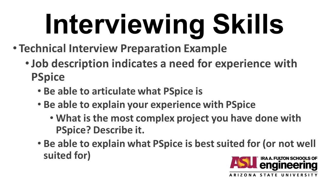 Interviewing Skills Technical Interview Preparation Example