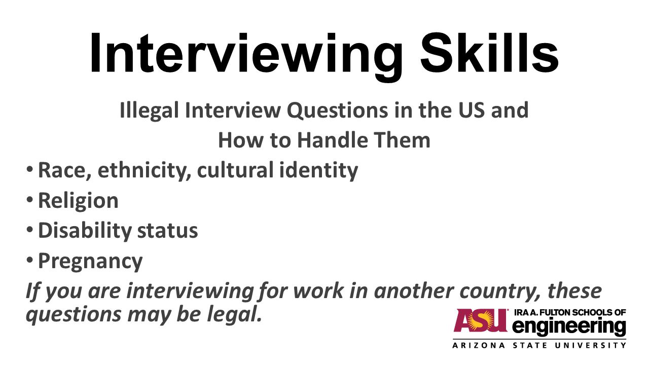 Illegal Interview Questions in the US and