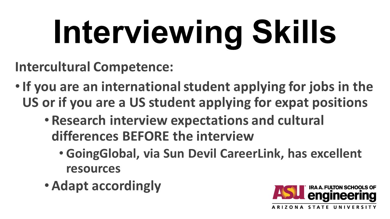 Interviewing Skills Intercultural Competence: