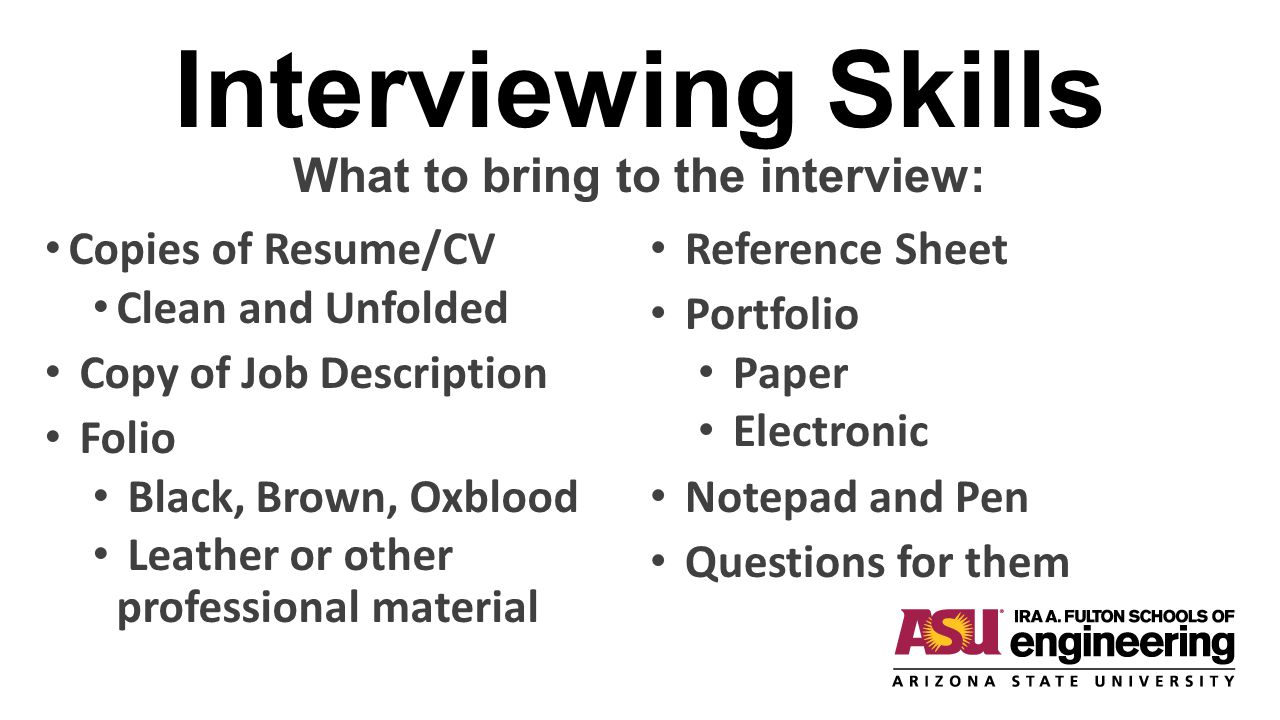 Should You Bring A Copy Of Your Resume To Job InterviewMake Resume