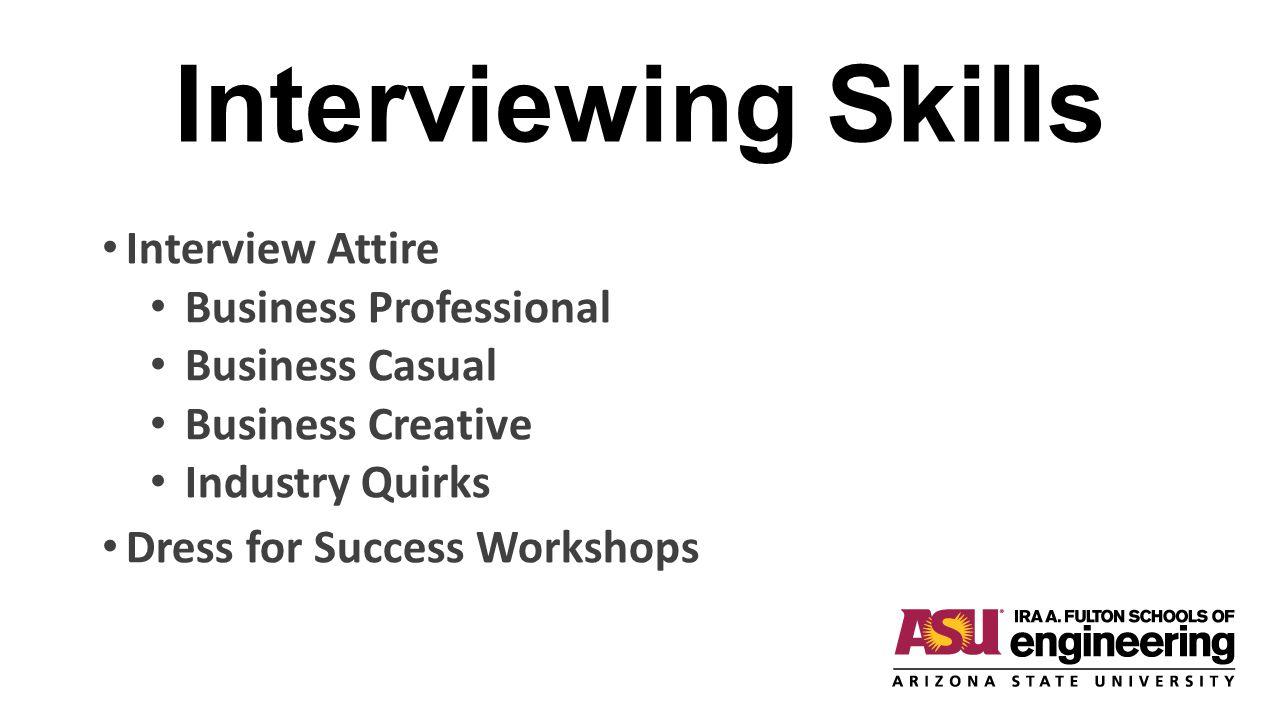 Interviewing Skills Interview Attire Business Professional